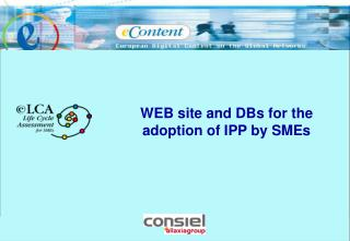 WEB site and DBs for the adoption of IPP by SMEs