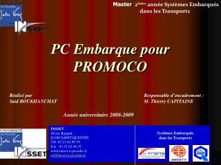 PC Embarque pour PROMOCO