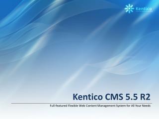 Kentico CMS 5.5 R2