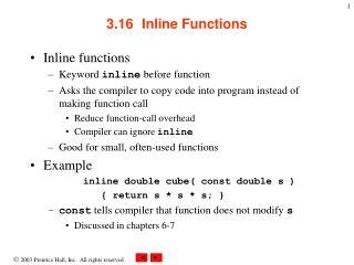 3.16Inline Functions