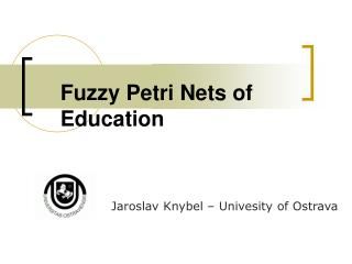 Fuzzy Petri Nets of Education