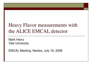 Heavy Flavor measurements with the ALICE EMCAL detector
