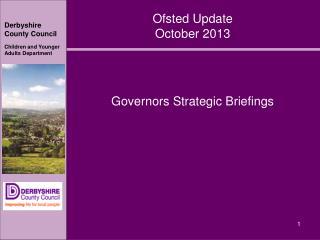 Ofsted Update October 2013
