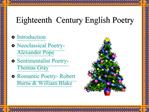 Eighteenth  Century English Poetry