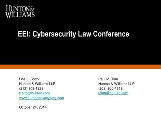 EEI : Cybersecurity Law Conference