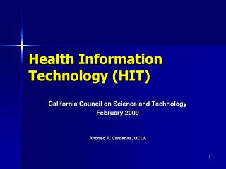 Health Information Technology (HIT)