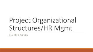 Project Organizational Structures/HR  Mgmt