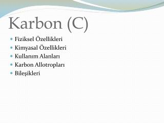 Karbon (C)