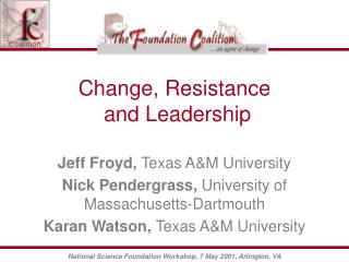 Change, Resistance  and Leadership