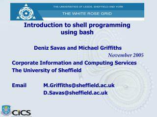 Introduction to shell programming using bash