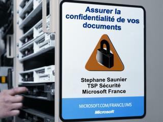 Assurer la confidentialité de vos documents