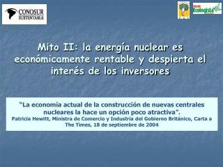 Mito II: la energ a nuclear es econ micamente rentable y despierta el inter s de los inversores