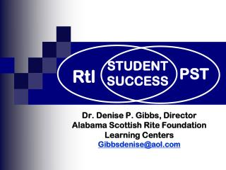 Dr. Denise P. Gibbs, Director Alabama Scottish Rite Foundation  Learning Centers