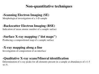 -Scanning Electron Imaging (SE) Morphological investigation of a 3-D sample