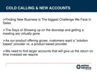 COLD CALLING & NEW ACCOUNTS