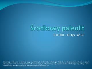 Środkowy paleolit