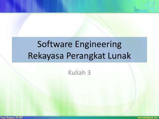 Software Engineering Rekayasa Perangkat Lunak