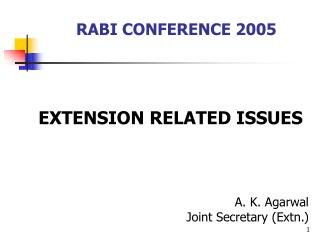 RABI CONFERENCE 2005