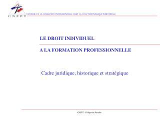 REFORME  DE  LA  FORMATION  PROFESSIONNELLE DANS  LA  FONCTION PUBLIQUE TERRITORIALE