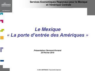 Services Economiques R gionaux pour le Mexique  et l Am rique Centrale