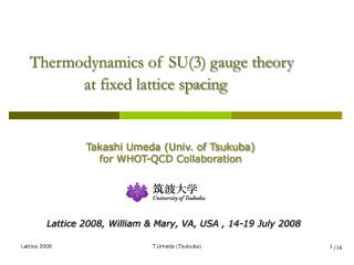 Thermodynamics of SU(3) gauge theory               at fixed lattice spacing