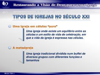 TIPOS DE IGREJAS NO SÉCULO XXI