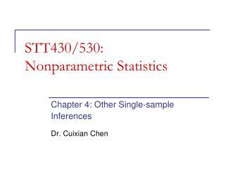 STT430/530: Nonparametric Statistics