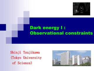 Dark energy I : Observational constraints