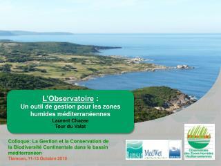L'Observatoire :  Un outil de gestion pour les zones humides méditerranéennes Laurent Chazee