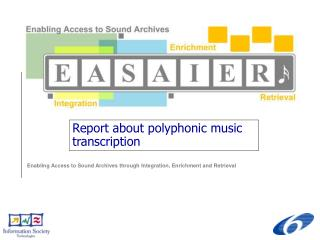 Report about polyphonic music transcription