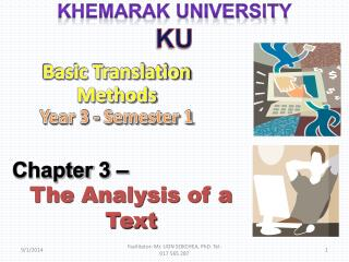 Chapter  3  –  The Analysis of a Text
