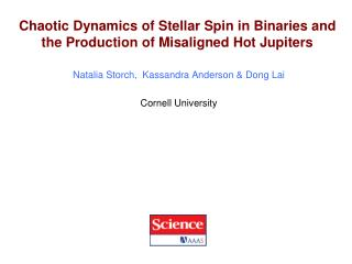 Chaotic Dynamics of Stellar Spin in Binaries and the Production of Misaligned Hot Jupiters