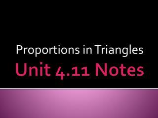 Unit 4.11 Notes