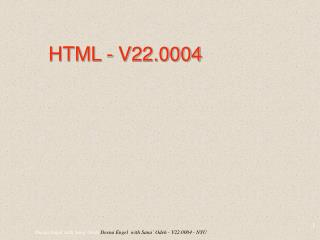 HTML - V22.0004