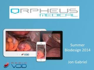 Summer  Biodesign  2014 Jon Gabriel