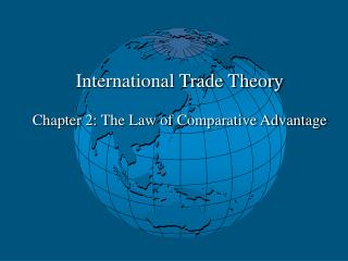 International Trade Theory Chapter 2: The Law of Comparative Advantage