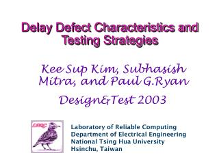 Delay Defect Characteristics and Testing Strategies