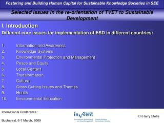Selected issues in the re-orientation of TVET to Sustainable Development