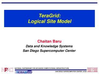 TeraGrid: Logical Site Model