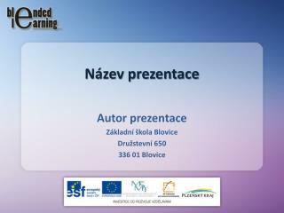 Název prezentace