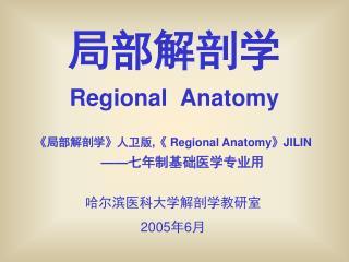 局部解剖学 Regional  Anatomy