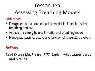 Lesson Ten Assessing Breathing Models