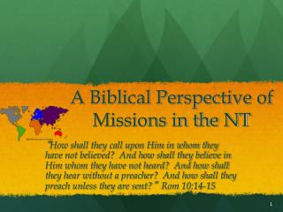 A Biblical Perspective of Missions in the NT