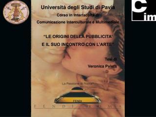 Università degli Studi di Pavia Corso in Interfacoltà di