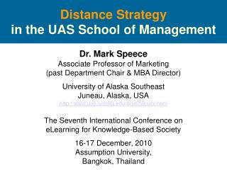 Distance Strategy in the UAS School of Management