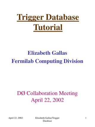 Trigger Database Tutorial
