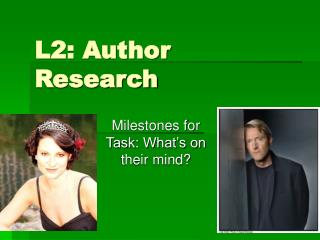 L2: Author Research