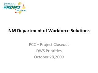 NM Department of Workforce Solutions