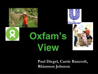 Oxfam's View