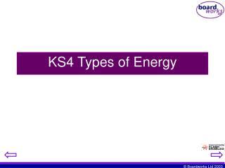 KS4 Types of Energy